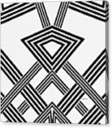 Black And White Diamond Canvas Print