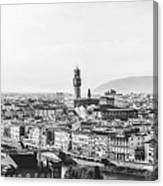 Black And White Florence Italy Canvas Print