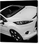 Black And White Ford Fiesta Canvas Print