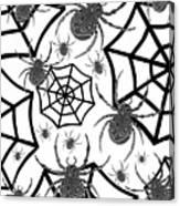 Black And White Halloween Canvas Print