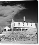 Black And White Image Of A House In New England In Infrared Canvas Print