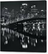 Black And White Lights Canvas Print