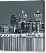 Black And White Louisville Canvas Print