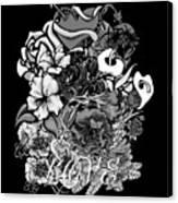 Black And White Love Bouquet Canvas Print