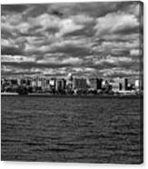 Black And White Mad Town Canvas Print