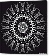 Black And White Mandala No. 1 Canvas Print