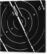 Black And White Military Marksman  Canvas Print