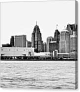Black And White Motor City Pano Canvas Print