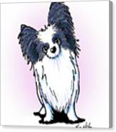 Black And White Papillon Canvas Print