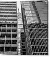 Black And White Philadelphia - Skyscraper Reflections Canvas Print