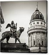 Black And White Photography - Berlin - Gendarmenmarkt Square Canvas Print