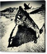 Black And White Photography Shipwreck Pinhole Canvas Print