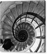 Black And White Spiral Canvas Print