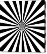Black And White Starburst Canvas Print