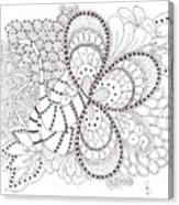 Black And White Tangle Canvas Print