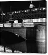 Black And White Train Canvas Print