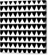 Black And White Triangles- Art By Linda Woods Canvas Print