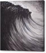 Black And White Wave Guam Canvas Print