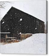 Black Barn II Canvas Print