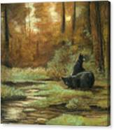 Black Bear - Autumn Canvas Print