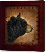 Black Bear Lodge Canvas Print
