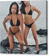 Black Bikinis 4 Canvas Print