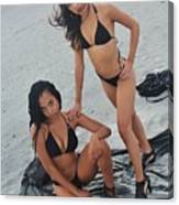 Black Bikinis 5 Canvas Print