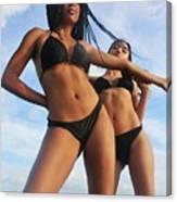 Black Bikinis 66 Canvas Print