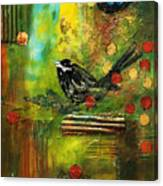 Black Bird Come Home Canvas Print