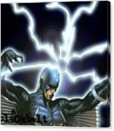 Black Bolt Canvas Print