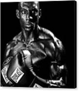 Black Boxer In Black And White 05 Canvas Print