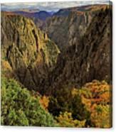 Black Canyon Of The Gunnison - Colorful Colorado - Landscape Canvas Print