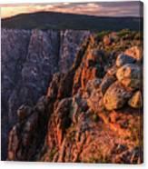 Black Canyon Sunset Glow Canvas Print