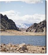 Black Canyon View - Pathfinder Reservoir - Wyoming Canvas Print