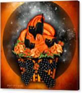 Black Cat Cupcake Canvas Print