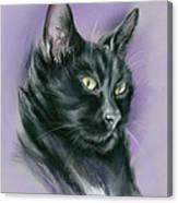 Black Cat Sith Canvas Print