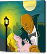 Black Dracula Canvas Print