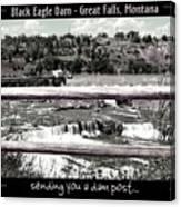 Black Eagle Dam Canvas Print