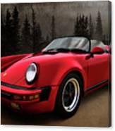 Black Forest - Red Speedster Canvas Print