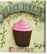 Black Forest Cupcake Canvas Print