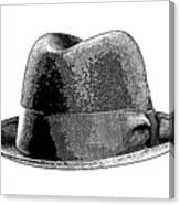 Black Hat T-shirt Canvas Print