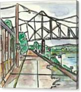 Black Hawk Bridge Canvas Print