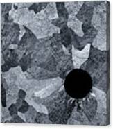 Black Hole - Galvanized Steel - Abstract Canvas Print