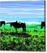 Black Horses ... Montana Art Photo Canvas Print