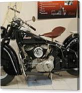 Black Indian Motorcycle Canvas Print