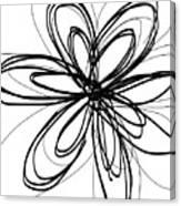 Black Ink Flower 1- Art By Linda Woods Canvas Print