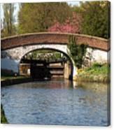 Black Jacks Bridge And Lock Canvas Print