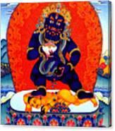Black Jambhala  8 Canvas Print
