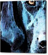 Black Labrador Retriever Dog Art - Hunter Canvas Print