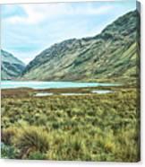 Black Lake  Canvas Print